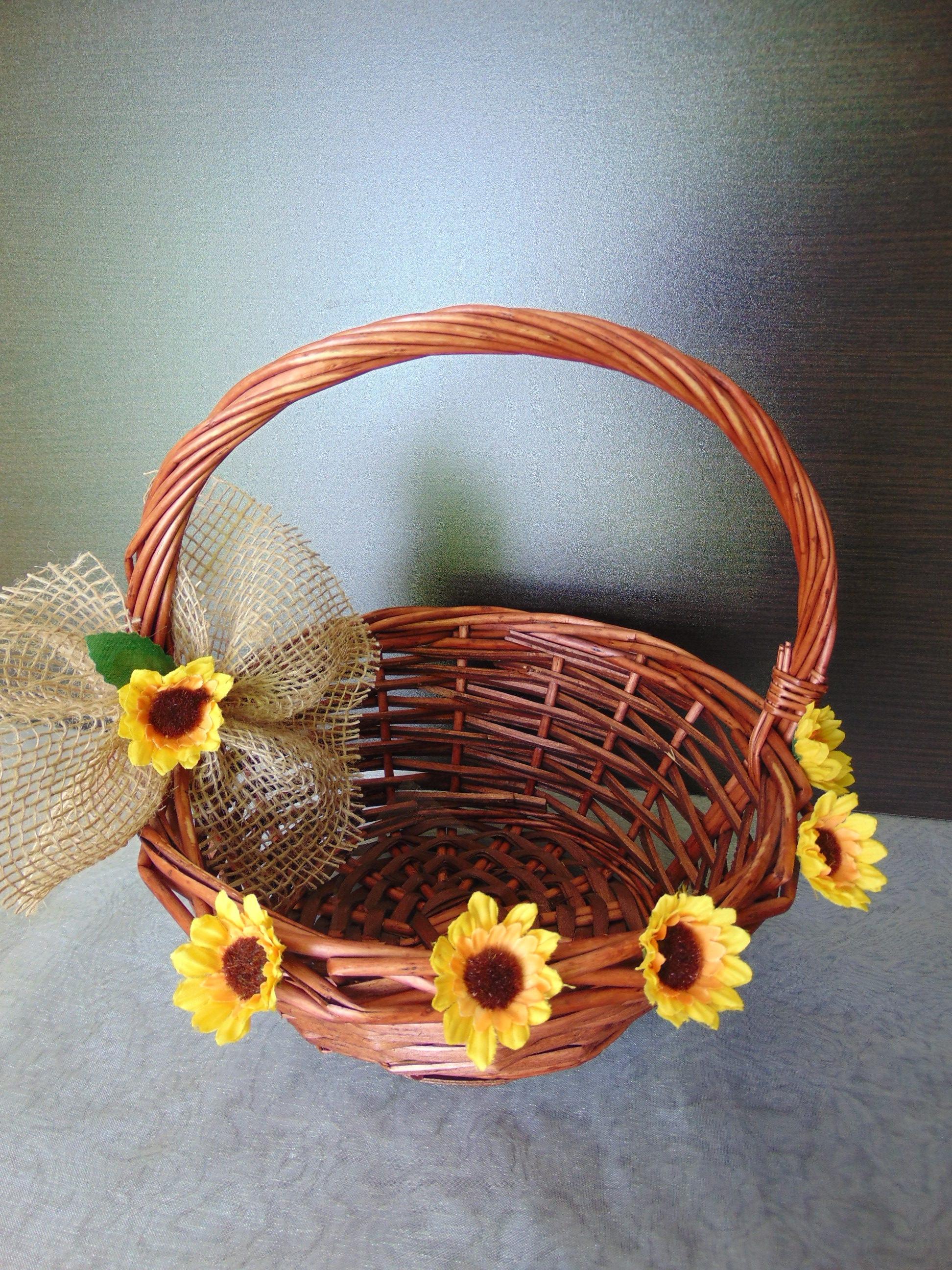 Rustic Sunflower Flower Girl BasketRustic GirlSunflower WeddingBarn Wedding