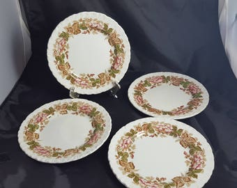 Wedgwood Bramble Brown Polychrome 4 Bread Plates
