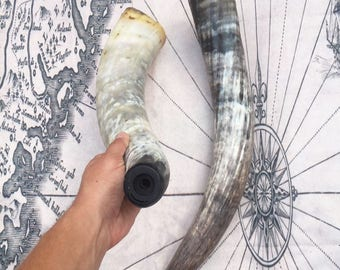 Extra Large Viking War Horn/Blowing Horn 20-22 Inches Long! Hand Made Norse Nordic War Horn Blowing Horn