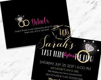 Printable Bachelorette Party Invitation|Bachelorette Party Invitation Template|Last Fling Before the Ring|Bachelorette Party|Invite|INSTANT