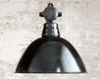 Factory lamp» EMATRE M «enamel - light industrial - design antique vintage LBL lamp industry lamp Ø 41 cm».