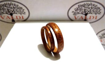 Bentwood Rings. Wooden Rings. Handcrafted  Wood Wedding  Rings. Mahogany and Oak woods