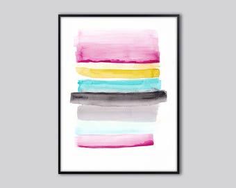 Abstract wall art print, abstract art, Watercolor prints, water color art, watercolour painting, abstract painting, living room decor, art