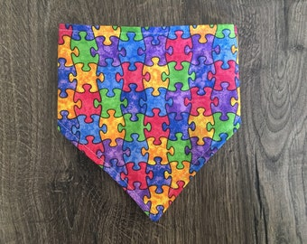 Autism Awareness Reversible Bandana - 50% of sales donated to the Autism Society