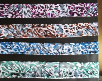 Feather satin scarves. 4 models