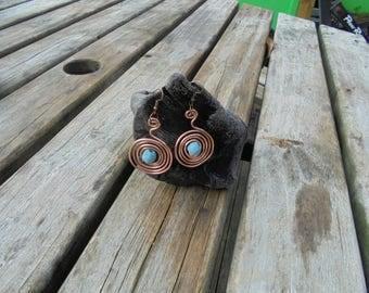 tribal copper hoops