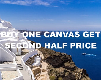 SPECIAL OFFER Buy one canvas print, get second half price, promo, Christmas, discount, sale, holiday sale, travel photography, fine art