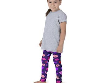 """Purple Kisses"""" Kid's leggings"""