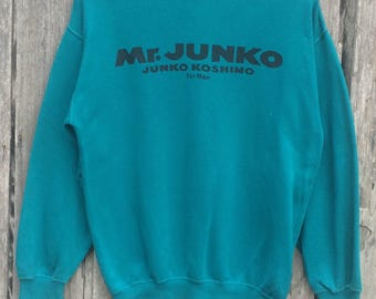 Vintage!!! Rare Mr. junko by Junko Koshino spell out sweatshirt jumper