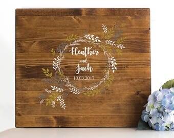 Wood wedding Guest Book, guest book alternative, Guest book Tree, guest book sign, wedding guest sign in, guest book ideas, guest sign in