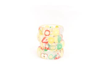 Resin Kawaii Ring, Fruity love, handmade ring with fruit pieces, resin ring, epoxy ring, unique gift, cool ring, romantic, MukWuk