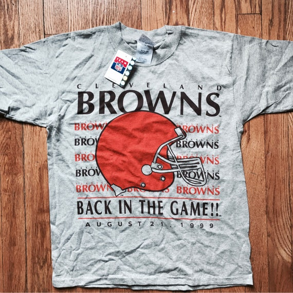 NWT Vintage Cleveland Browns Inaugural Gameday t-shirt (gray) | 1999