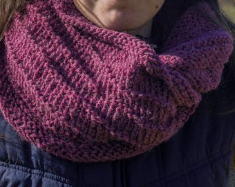 Mulberry Mobius Cowl Twisted Infinity Cowl Knitting Pattern