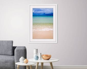 Whitehaven Beach Whitsundays Queensland Australia Photograph Wall Art Print Blue Ocean Water Coast Storm Photo