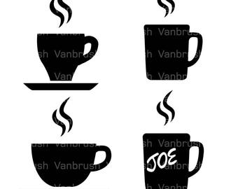Coffee cup Illustration logo. PNG, SVG, EPS (vector).