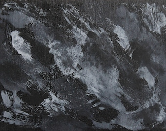 Black and White Ink on Black (#21)
