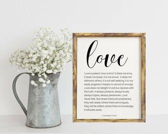 Love Sign, Bible Verse Wall Art, Bible Verse, Scripture Printable, Bible Verse Print, Bible Verse Sign, Bible Verse Art, Scripture Wall Art
