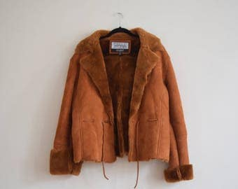 Wilsons Leather x Pelle Studio Suede Jacket With Faux Fur Lining