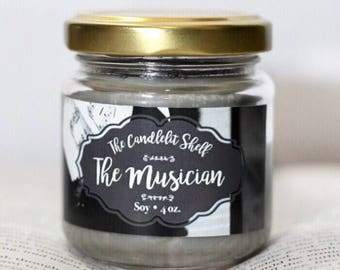 The Musician bookish candle