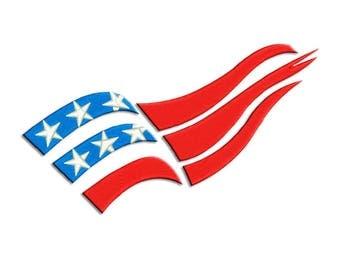 American Flag Embroidery design - Machine embroidery design   -   NushNusha shop