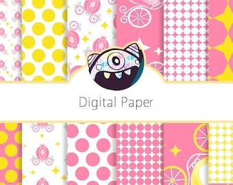 80% OFF Sale Scrapbook Papers, Digital Scrapbooking, CarrigeDigital Paper, Pink Digital Papers, Girly Papers, Pink Patterns DG17