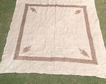 Fine Quality Beautiful Embroided Pashmina Shawl Stole,Pure Wool,Kashmir-Pakistan, 130 cm Long