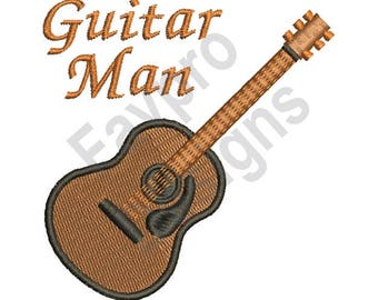 Guitar Man - Machine Embroidery Design