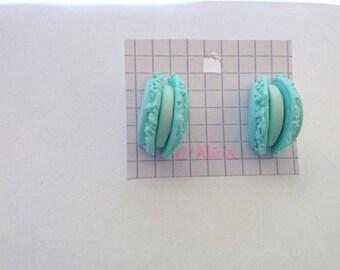 Mint macaroon earrings