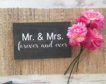 dbc | Mr. & Mrs. forever and ever wooden sign