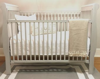 SOLD Gray white washed Crib