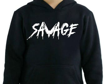 savage maverick kids hoodies logang kids hoodie maverick bird
