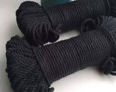 Black* cotton rope, 5mm, 200 feet, 60 meters, coloured cotton rope, macrame supplies, weave, tapestry, bohemian art