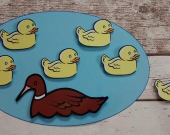 5 little ducks went swimming song, nursery song, counting song, counting rhyme, interactive resource, for nursery or Reception class,