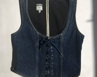 Rare Vintage denim Moschino Jeans corset