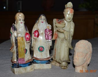 Chinese soapstone figurines