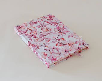 Floral Pink hardcover notebook journal A5 handmade