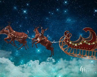 Santa's sleigh digital background