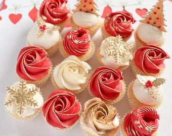 Christmas mini cupcakes