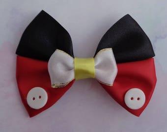 Mickey Mouse   Mickey Mouse Inspired   Mickey Mouse Hair Bow   Disney Inspired Hair Bow