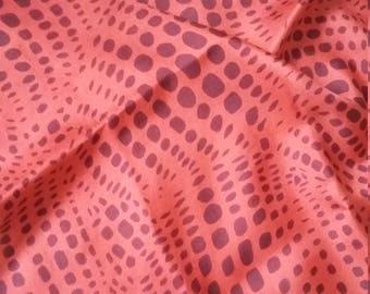Stunning vintage Jacqmar small silk scarf  or bandana -70s retro