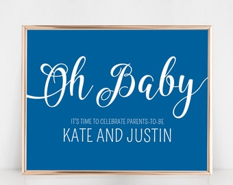 "Oh Baby! Joint Baby Shower by Arbor Grace Collections, 20"" x 24"" PRINTABLE Welcome Sign"