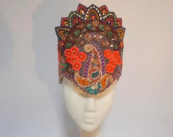 Carnival Tribal Floral Headdress Festival Fashion Sequin Crown