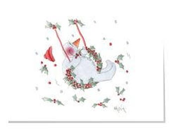 Happy Garden X11-Swinging Christmas Christmas Card