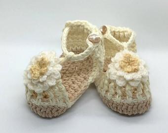 Crochet Baby Sandals, Flower Sandal
