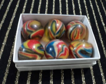 "Vintage 1"" Swirl Rubber Balls"