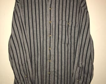 90s Striped Denim Collar Shirt