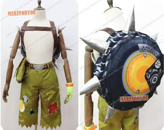 Unisex's OW Junkrat Cosplay Costume with bag