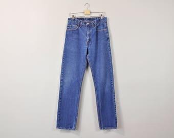 Levis 505 Jeans, Vintage 90s Levi Jeans, High Waist Levis, Classic Straight Leg Jeans, Levis Boyfriend Jeans, Mens Levis Size 33 x 34