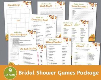 Bridal Shower Games Package, Autumn Fall Bridal Shower Activity, Pumpkins, Games Set, Unique Games Pack, Shower Bundle, BSPKG, A022