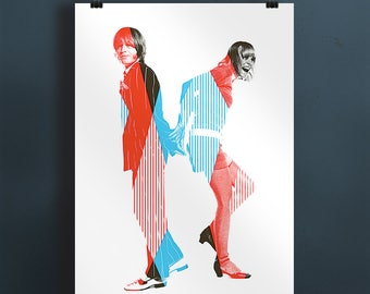 Brian Jones & Anita Pallenberg  Pop Art print